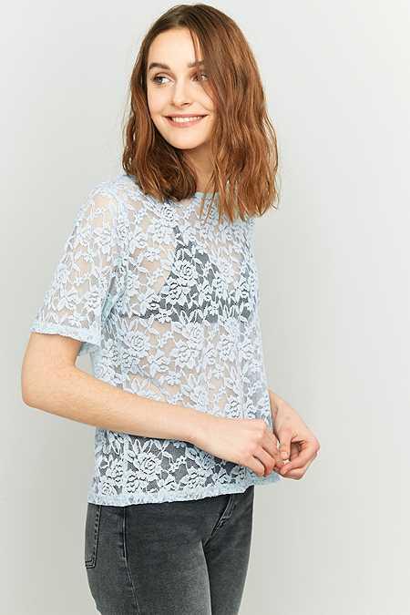 Pins & Needles – Kurzärmliges T-Shirt aus Spitze