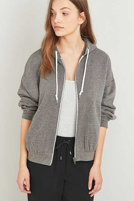 Light Before Dark Marled Grey Zip Hoodie