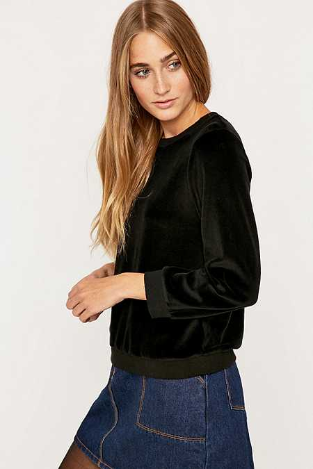 Urban Outfitters Velour Crew Neck Jumper