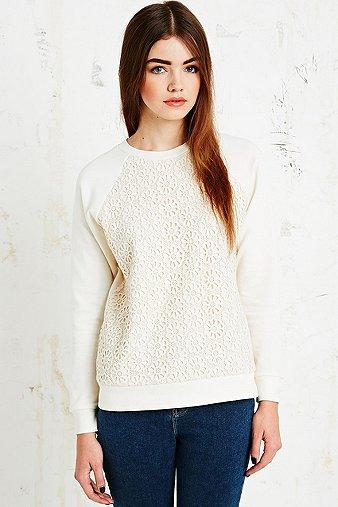 Cooperative Daisy Crochet Sweatshirt