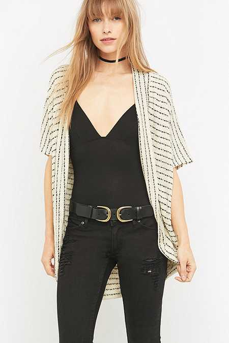BDG Striped Open Cardigan