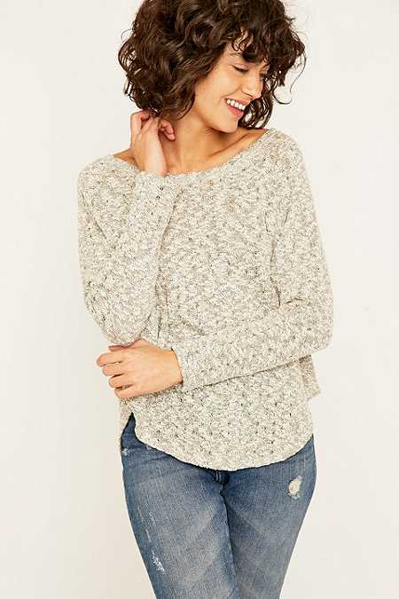 BDG Salt & Pepper Raglan Jumper