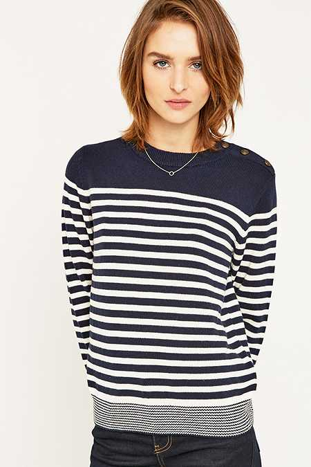 BDG Lucky Day Striped Crew Neck Jumper
