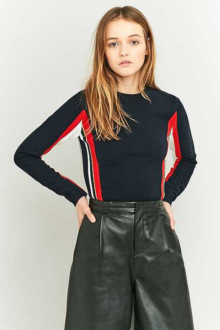 Urban Outfitters Navy Colour Block Ski Jumper