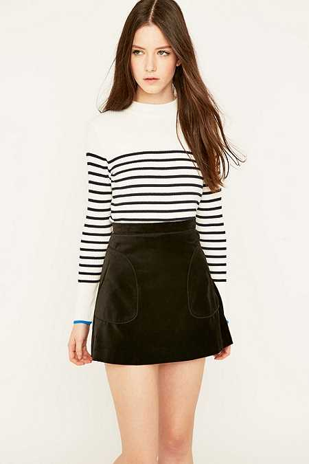 Urban Outfitters Breton Striped Turtleneck Jumper