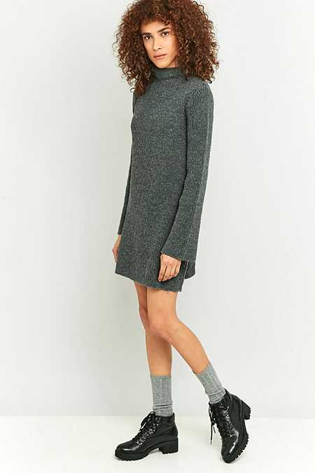 Urban Outfitters - Robe-pull Vegas à col roulé gris