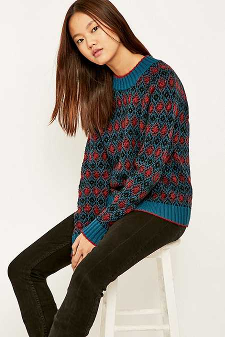 Urban Outfitters Diamond Pattern Jumper