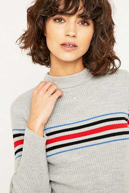 Urban Outfitters Placement Striped Mockneck Jumper