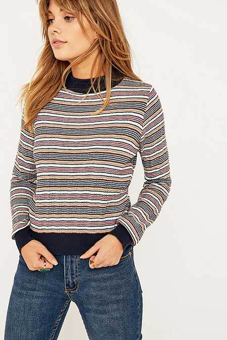 Urban Outfitters Contrast Striped Jumper