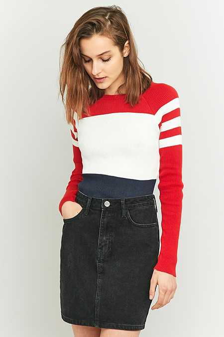 Urban Outfitters Striped Football Jumper
