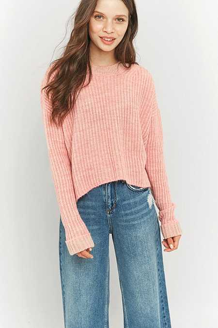 Light Before Dark Deflection Pink Jumper