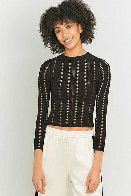 Light Before Dark Geo Pointelle Knit Jumper
