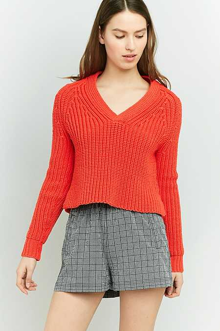 Urban Outfitters Puffy Yarn V-Neck Jumper