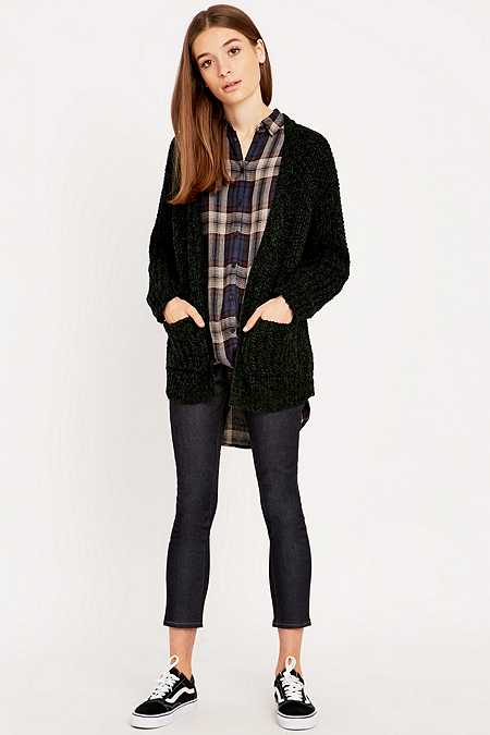 BDG Fisherman Stitch Cardigan