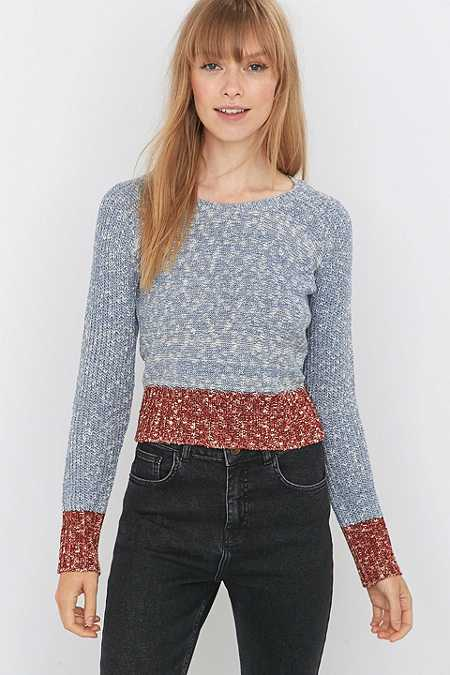 Urban Outfitters Blue Colourblock Jumper