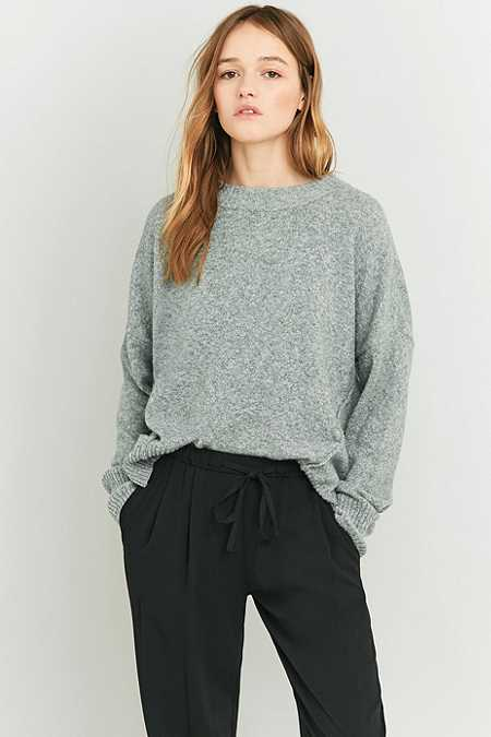 BDG Oversized Seamed Grey Jumper