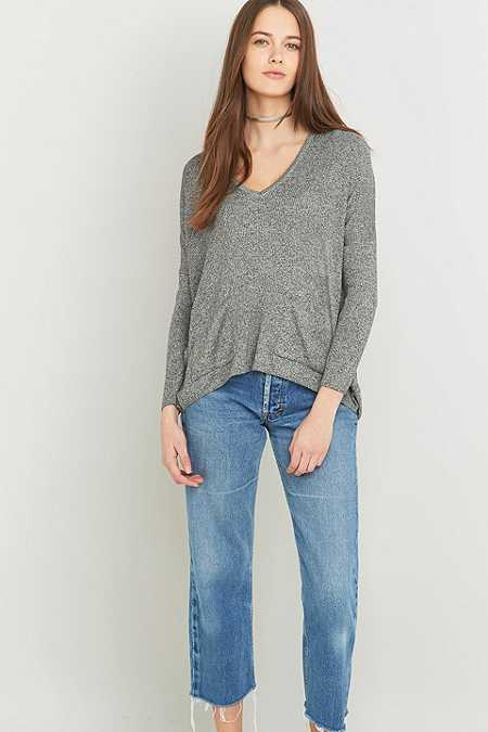 BDG Mia Grey Pocket Pullover Jumper