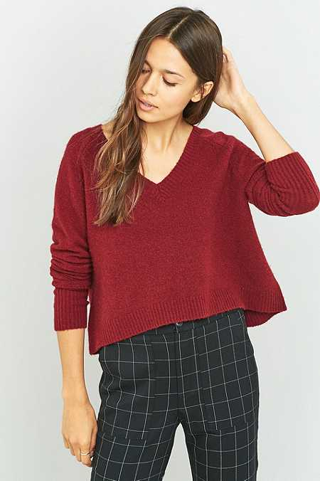 BDG V-Neck Cropped Jumper