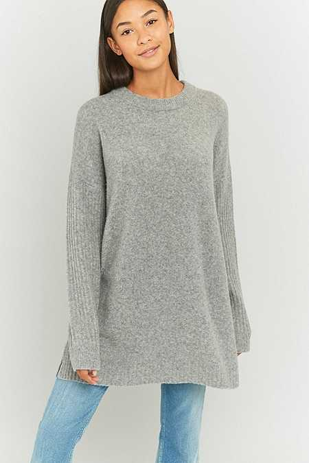 BDG Ribbed Panel Tunic Jumper