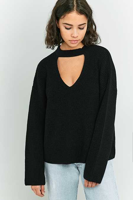 Light Before Dark Choker Jumper