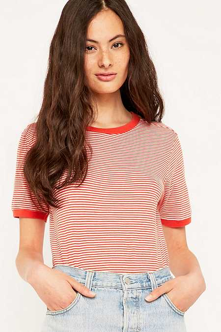 Urban Outfitters Red Striped T-shirt