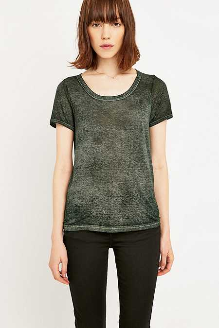 Bdg burnout scoop neck top