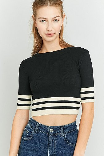 Urban outfitters striped hem crop top urban outfitters - Bon de reduction urban outfitters ...