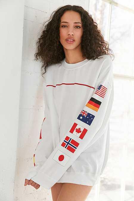 """Sweatshirt """"Hinds Flag"""" mit Rundhalsausschnitt"""