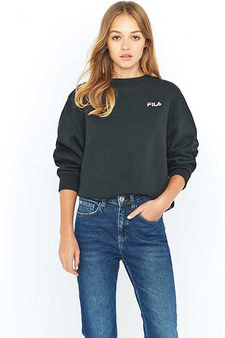 Fila Cassio Black Crew Neck Sweatshirt