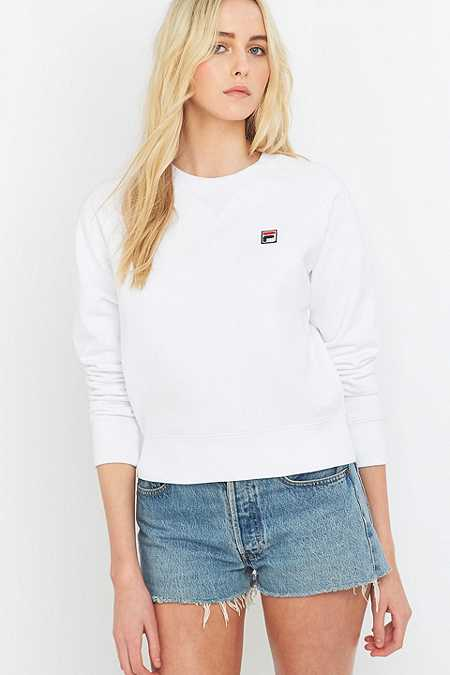 UO Exclusive Fila Massimo White Crew Neck Sweatshirt