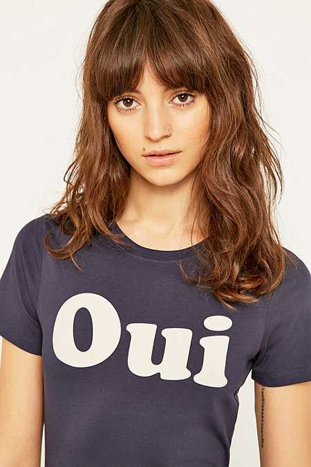 Clothing urban outfitters for L ecole des femmes oui non white t shirt