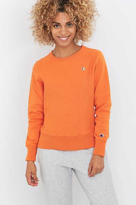 Champion Orange Crew Neck Sweatshirt