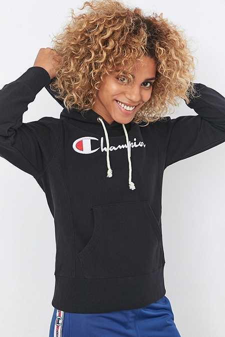 Champion Black Applique Hoodie
