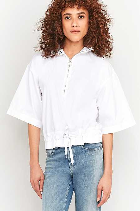 Rodebjer Fawcett Frill Collar White Jacket