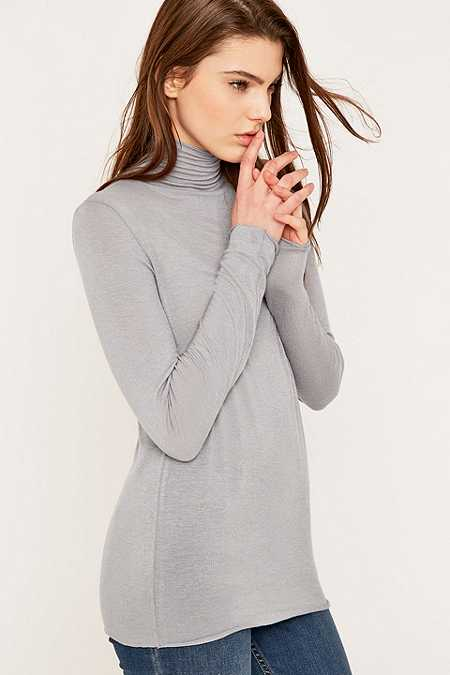 Selected Femme Angie Lilac Ribbed Turtleneck Jumper