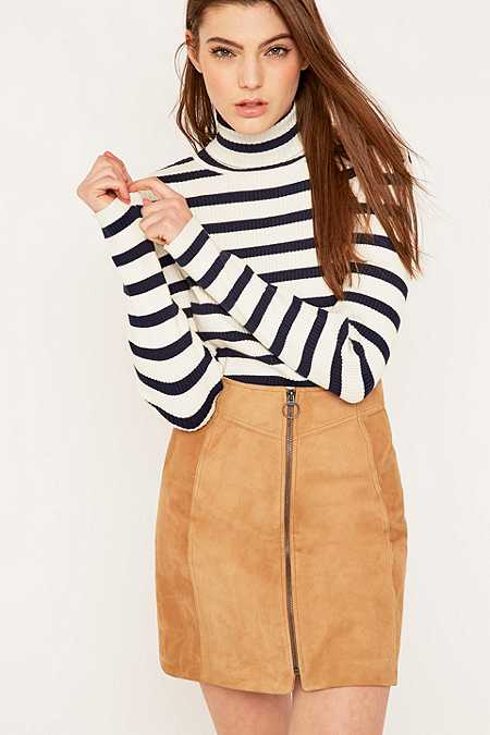 Selected Femme Mifa Long Sleeve Striped Turtleneck Jumper