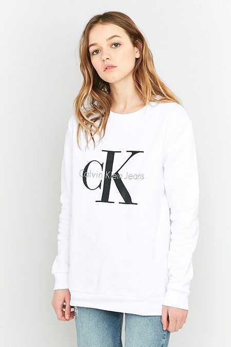 """Calvin Klein – Sweatshirt """"True Icon"""" in Weiß"""
