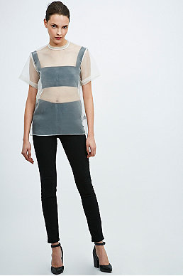 Solace Degas Sheer Organza Top in White