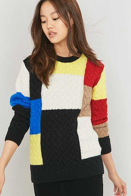 Peter Jensen Patchwork Colourblock Jumper
