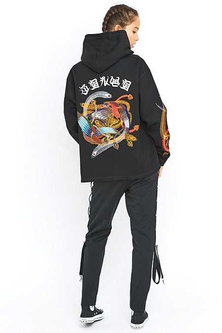 G.V.G.V. Embroidered Black Hoodie