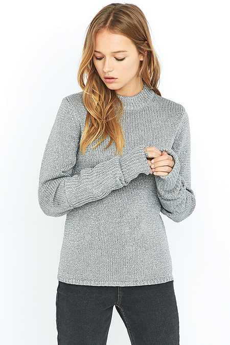 Cheap Monday Honour Grey Sparkle Lurex Knitted Jumper