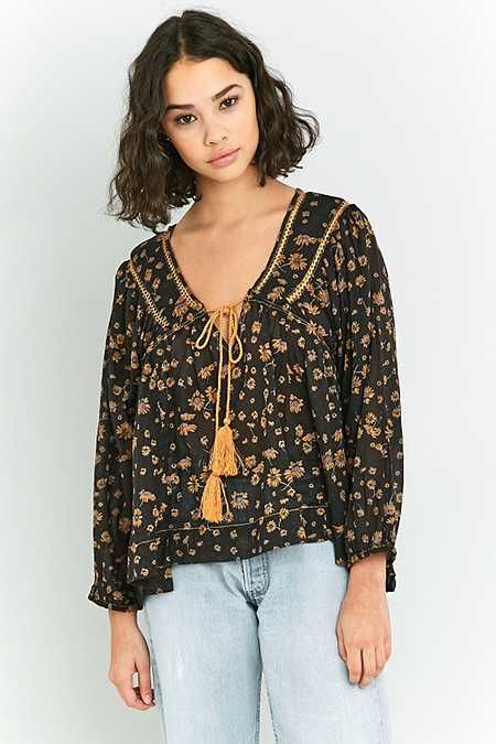 """Free People – Geblümte Bluse """"Never A Dull Moment"""""""