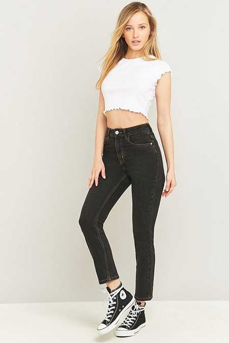 BDG Girlfriend Black Straight Leg Jeans