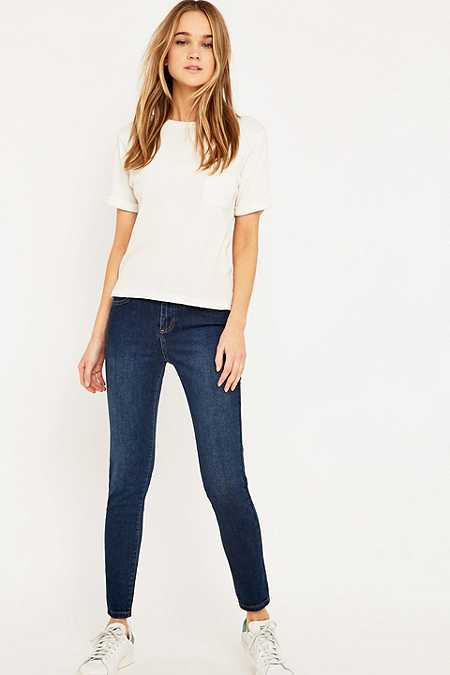 BDG – Mid-Rise-Skinny-Jeans in Winter Blue