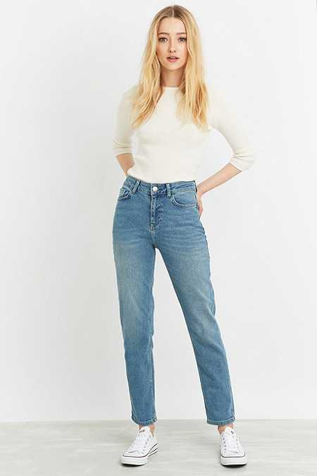 BDG New Girlfriend Light Blue Straight Leg Jeans
