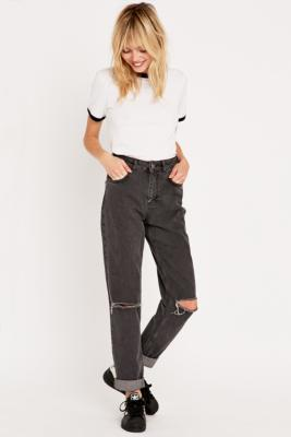 BDG ripped mom jeans in grey