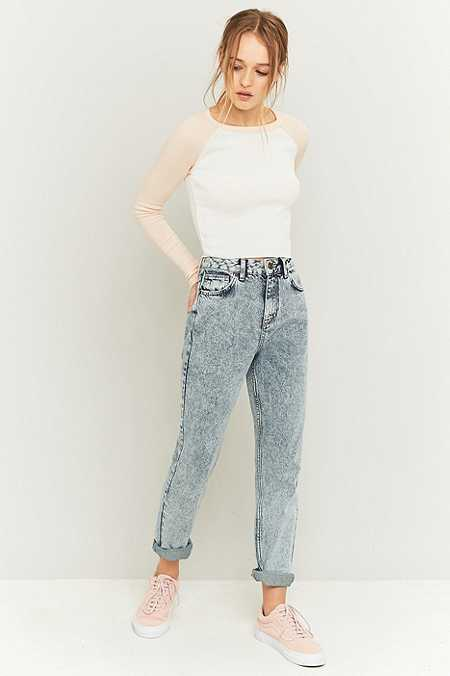 BDG Acid Washed Blue Mom Jeans
