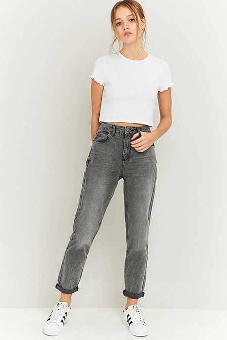 BDG Acid Washed Grey Mom Jeans