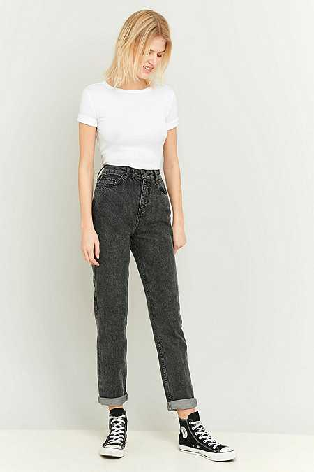 BDG Acid Washed Black Mom Jeans