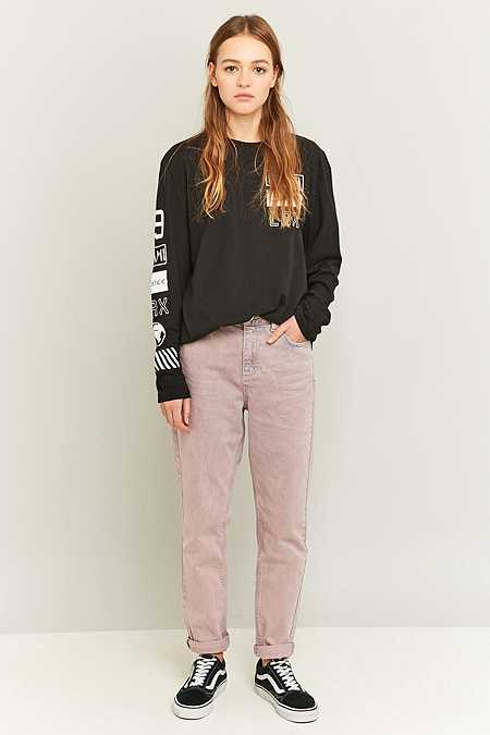 BDG Acid Washed Pink Mom Jeans